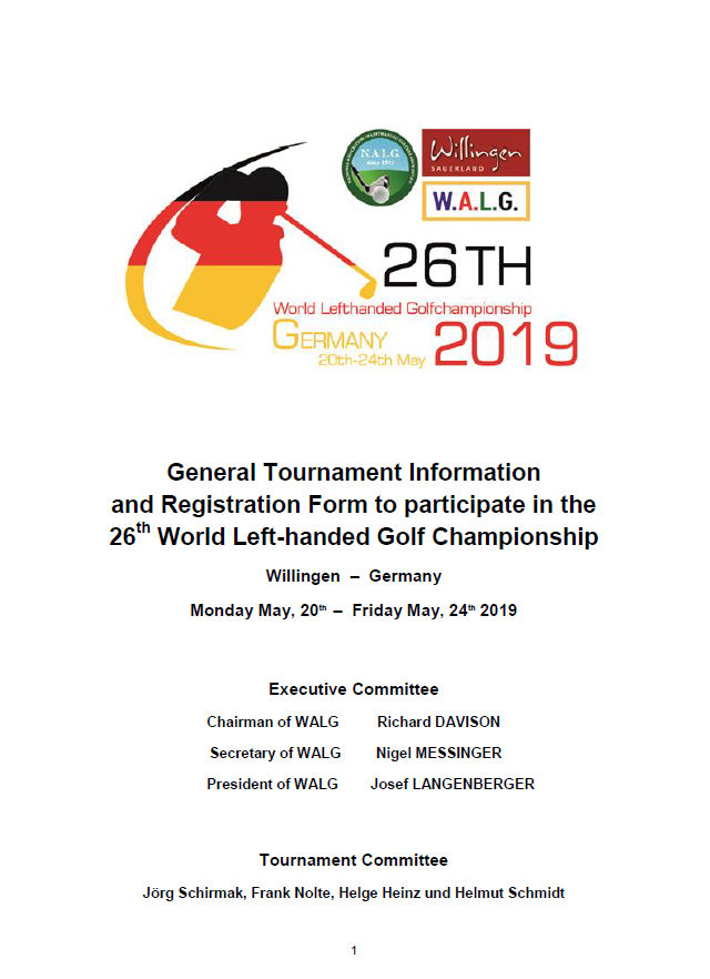 General Tournament Information page1