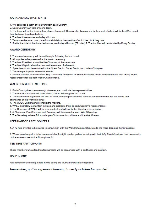 Tournament Guidelines page2